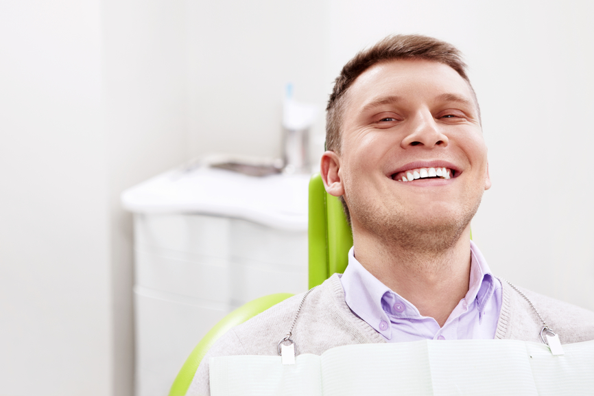The patient in the dental chair